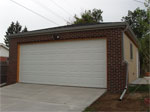 Two Car Garage Constructed with a Brick Front