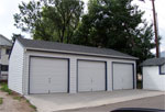 Large Reverse Gable Garage
