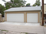 Three Car Reverse Gable Garage